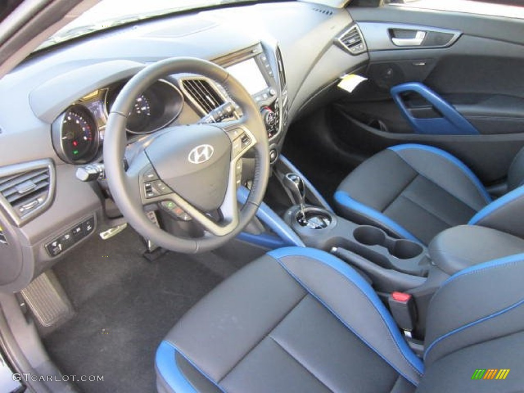 blue interior 2013 hyundai veloster turbo photo 70874137. Black Bedroom Furniture Sets. Home Design Ideas