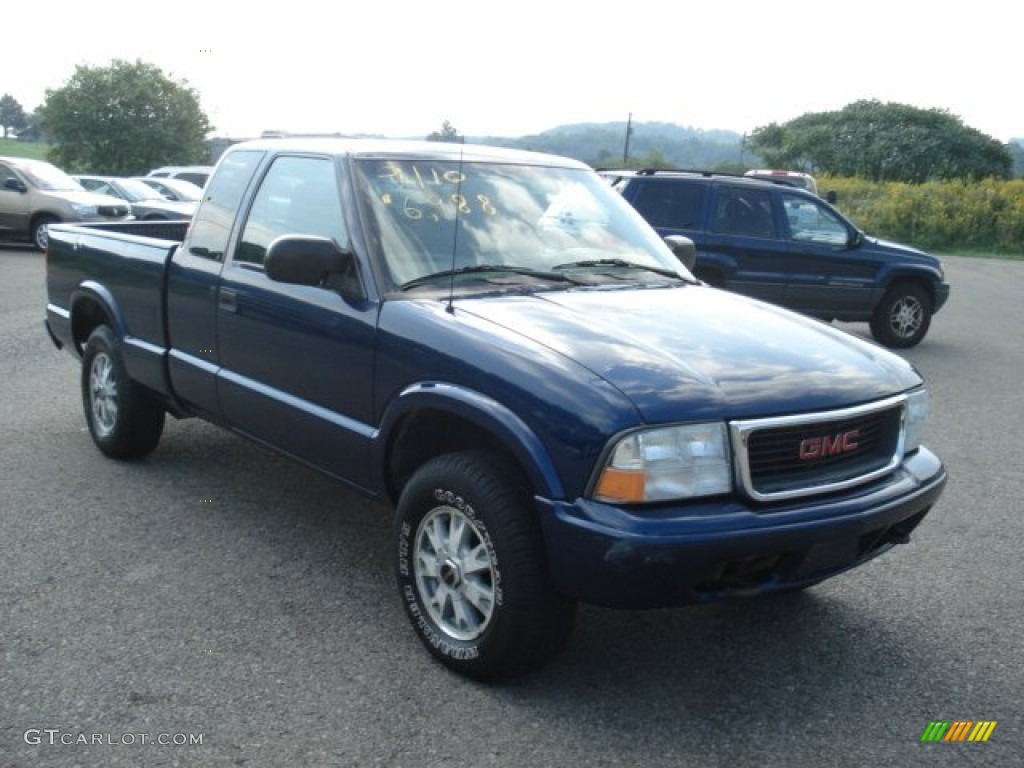 2002 Indigo Blue Metallic Gmc Sonoma Sls Extended Cab 4x4 70818514 Gtcarlot Com Car Color Galleries