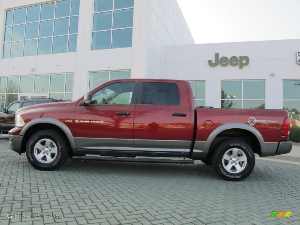 Deep Cherry Red Crystal Pearl 2011 Dodge Ram 1500 Slt