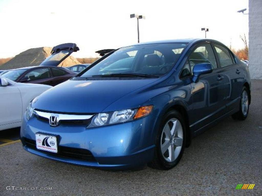 2006 atomic blue metallic honda civic ex sedan 7067107 car color galleries. Black Bedroom Furniture Sets. Home Design Ideas