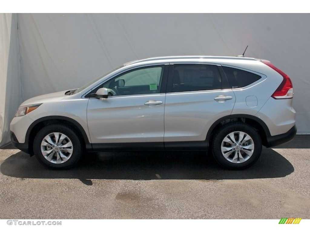 2012 CR-V EX - Alabaster Silver Metallic / Black photo #4