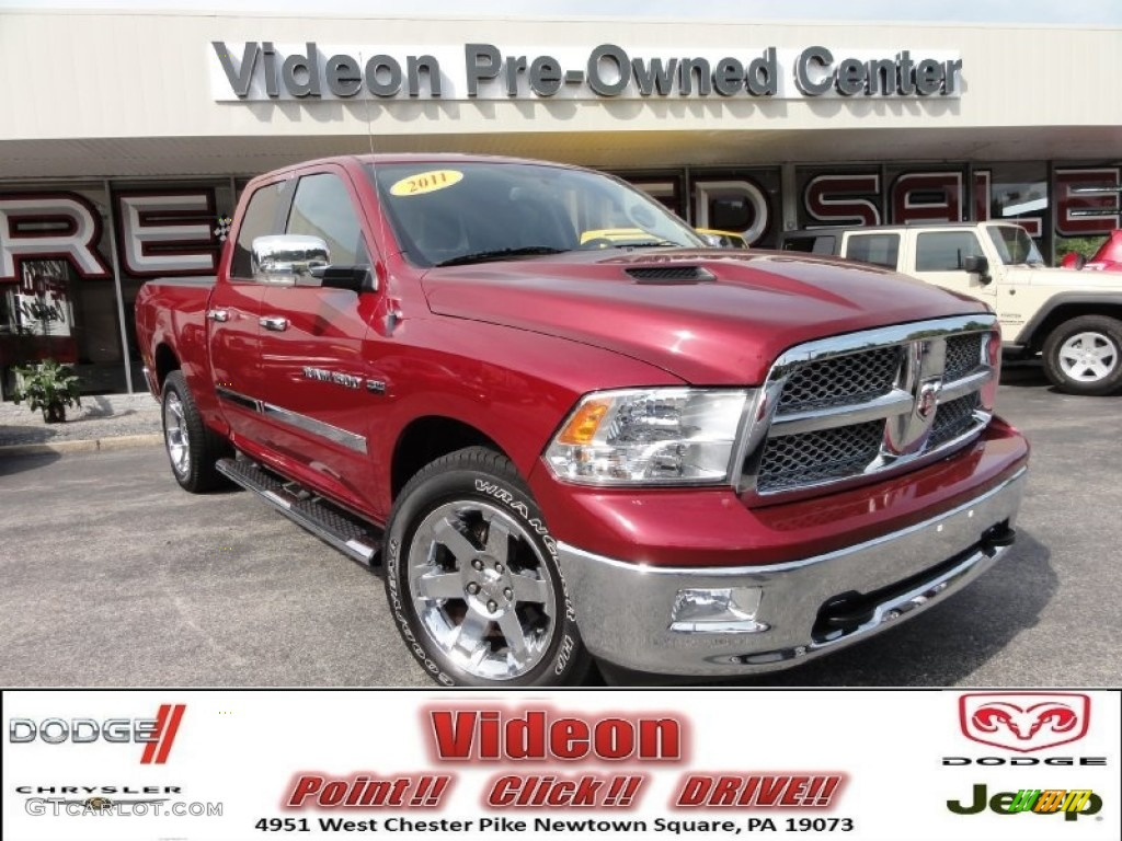 Deep Cherry Red Crystal Pearl Dodge Ram 1500