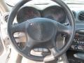 2001 Pontiac Grand Am Dark Pewter Interior Steering Wheel Photo