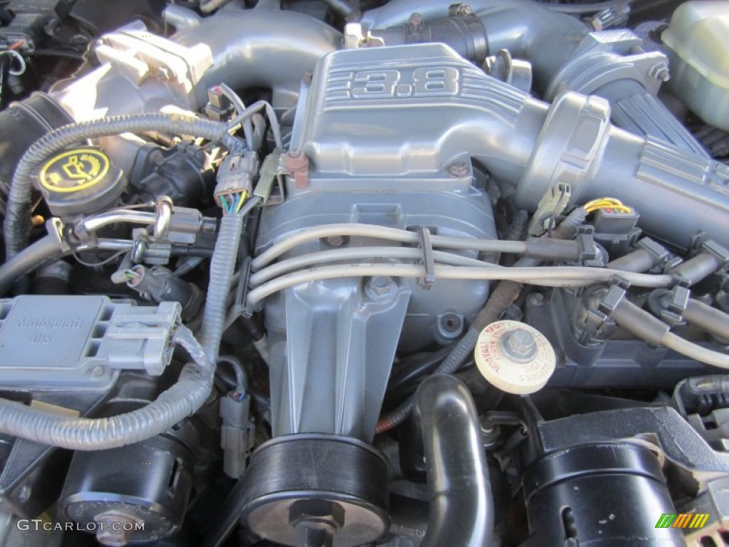 1989 Ford Thunderbird Sc Super Coupe 3 8 Liter Supercharged Ohv 12 Valve V6 Engine Photo