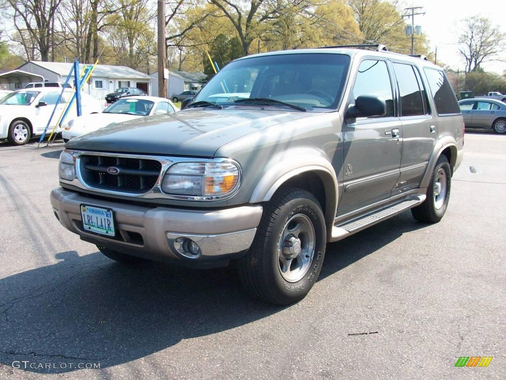 2000 spruce green metallic ford explorer eddie bauer 4x4 7058231 car color. Black Bedroom Furniture Sets. Home Design Ideas