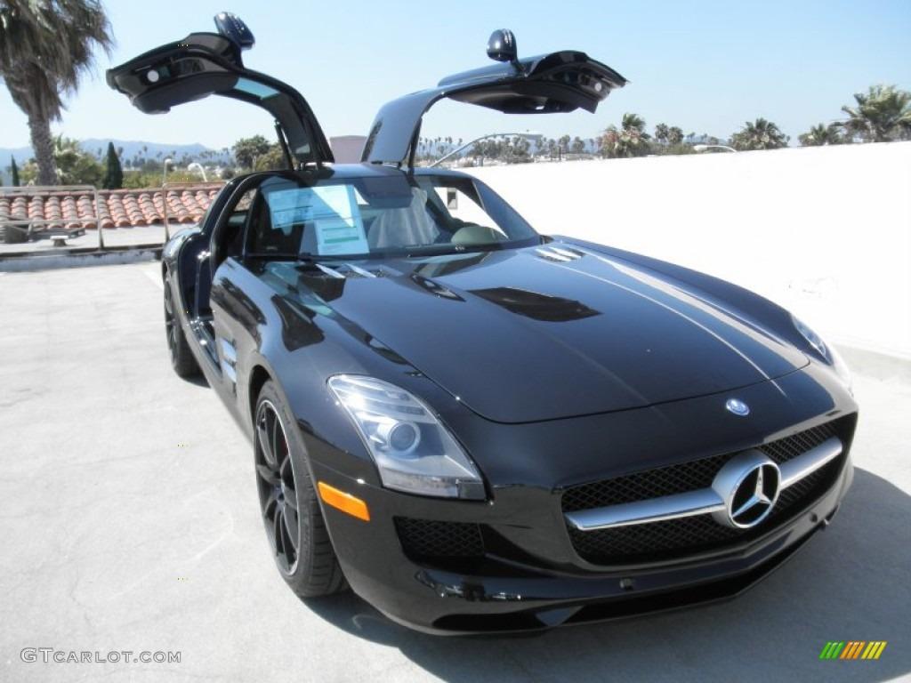 Obsidian Black Metallic 2012 Mercedes Benz Sls Amg
