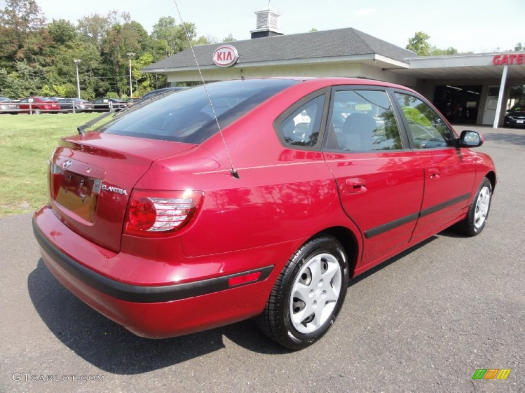 2005 electric red metallic hyundai elantra gls hatchback 70926114 photo 6 car. Black Bedroom Furniture Sets. Home Design Ideas