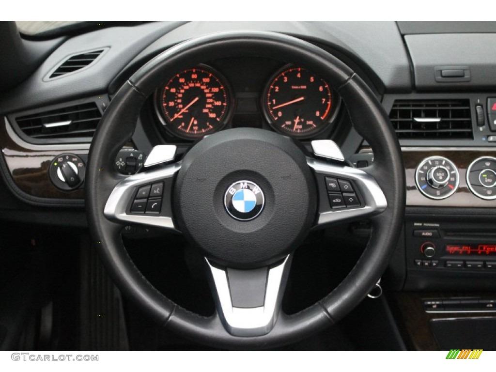 2009 Bmw Z4 Sdrive35i Roadster Black Steering Wheel Photo