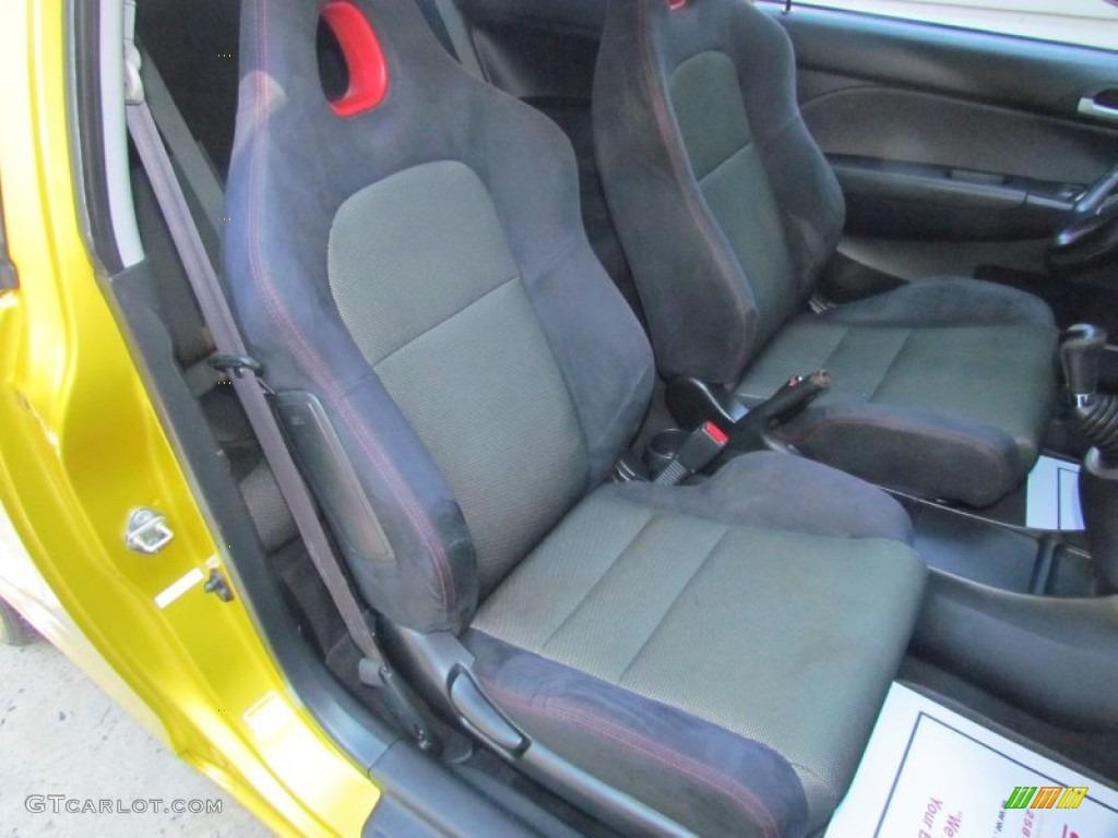 Black Interior 2002 Honda Civic Si Hatchback Photo 70931911