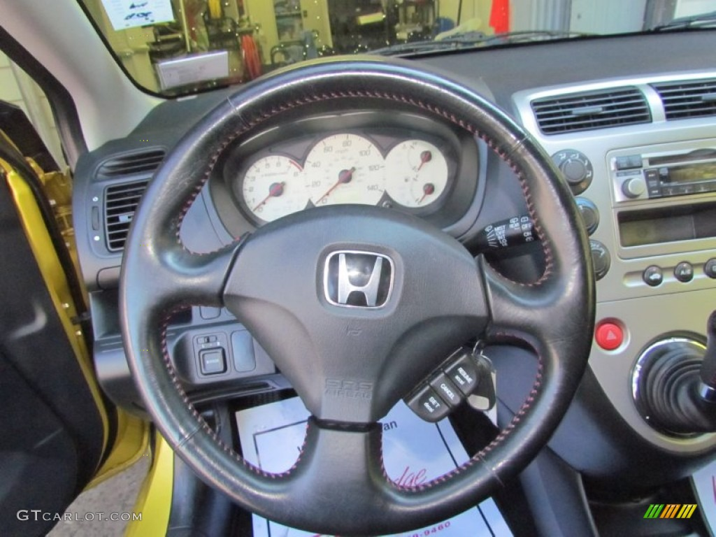 2002 honda civic si hatchback black steering wheel photo