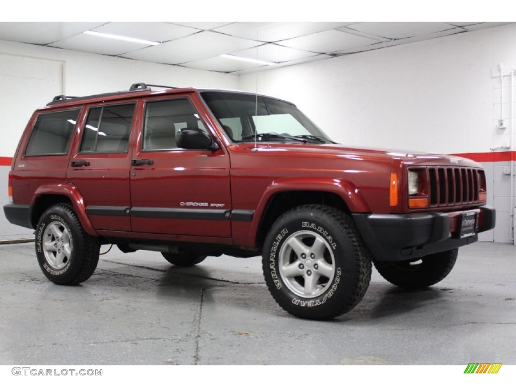 1999 chili pepper red pearl jeep cherokee sport 4x4 #70925948