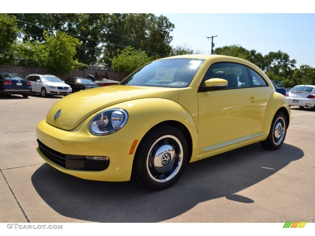 2013 yellow rush volkswagen beetle 2 5l 70963478 car color galleries. Black Bedroom Furniture Sets. Home Design Ideas