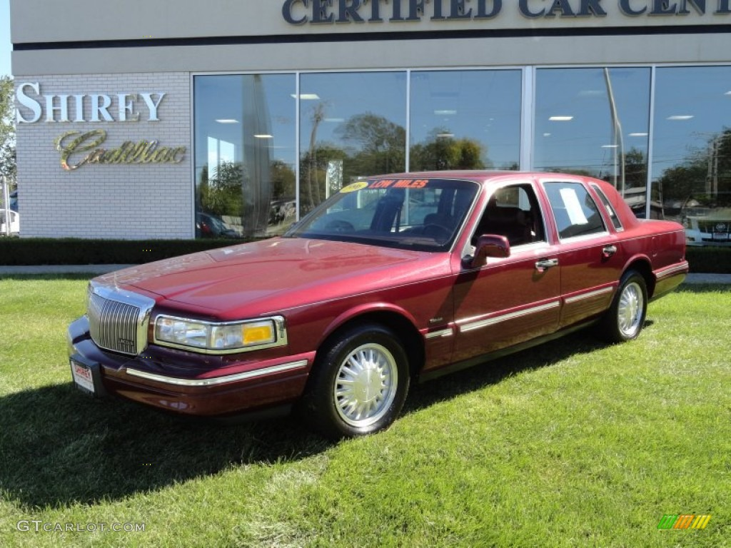 1996 Cordovan Metallic Lincoln Town Car Cartier 70963206 Photo 13