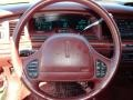 Dark Red Steering Wheel Photo for 1996 Lincoln Town Car #70973011
