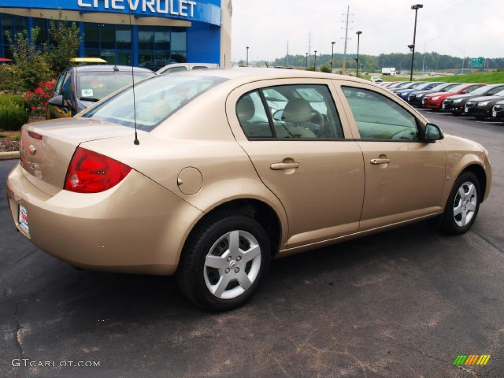 sandstone metallic 2007 chevrolet cobalt lt sedan exterior. Black Bedroom Furniture Sets. Home Design Ideas