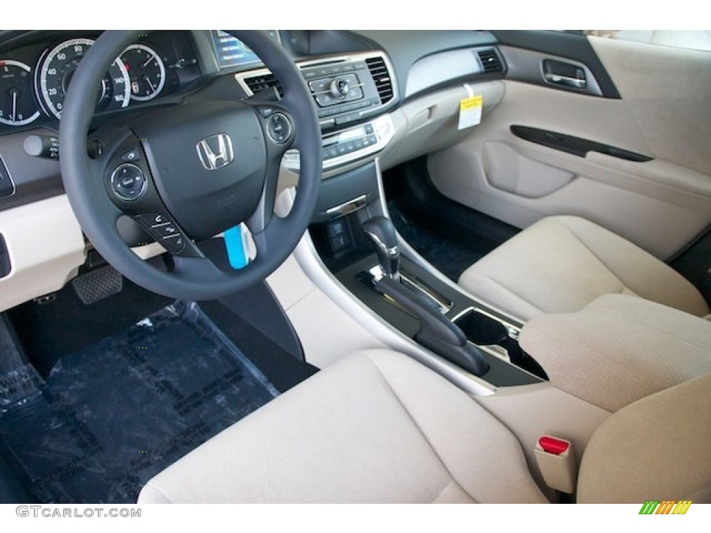 Ivory Interior 2013 Honda Accord Lx Sedan Photo 70997716