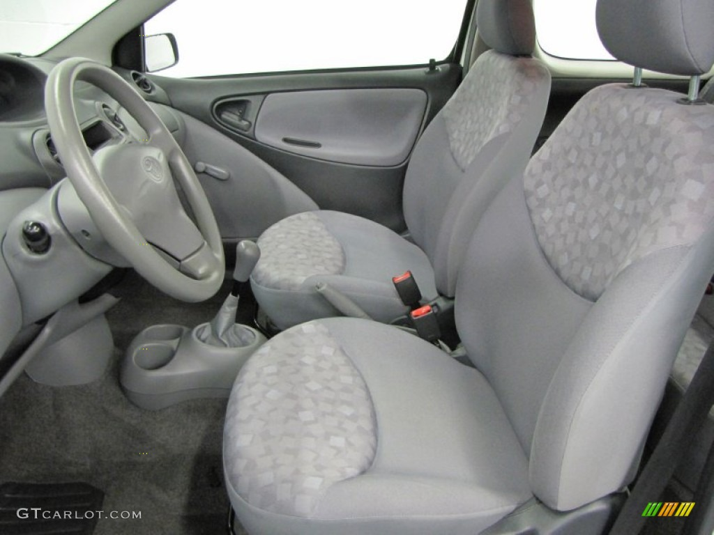 Shadow Gray Interior 2002 Toyota Echo Sedan Photo