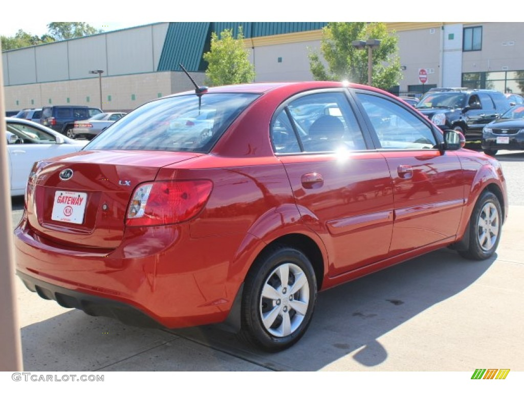 2010 tropical red kia rio lx sedan 71010474 photo 5 car color galleries. Black Bedroom Furniture Sets. Home Design Ideas