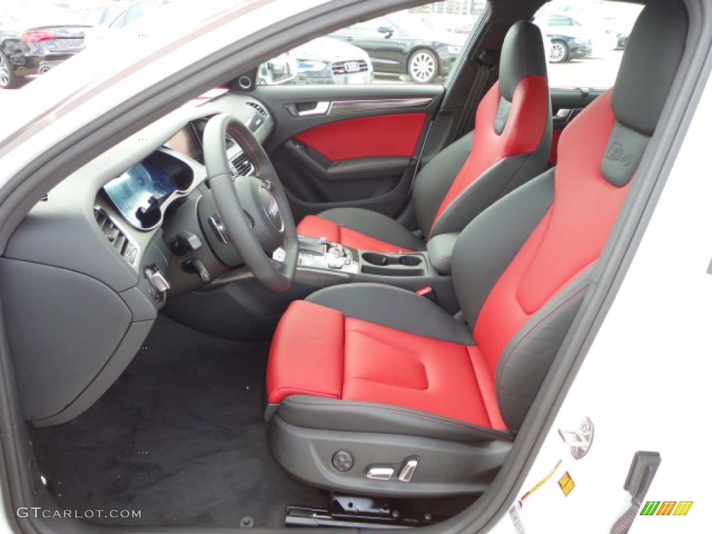 Black/Magma Red Interior 2013 Audi S4 3.0T quattro Sedan ...