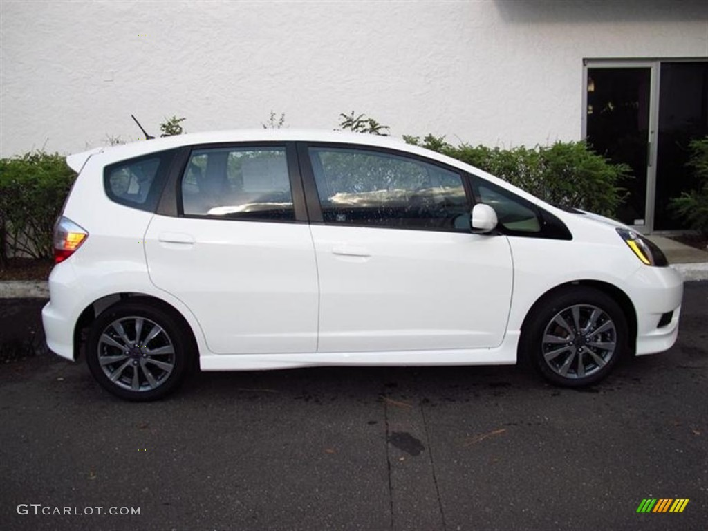 taffeta white 2013 honda fit sport exterior photo