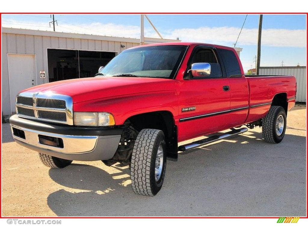 1997 flame red dodge ram 2500 laramie extended cab 7067117 car color galleries. Black Bedroom Furniture Sets. Home Design Ideas
