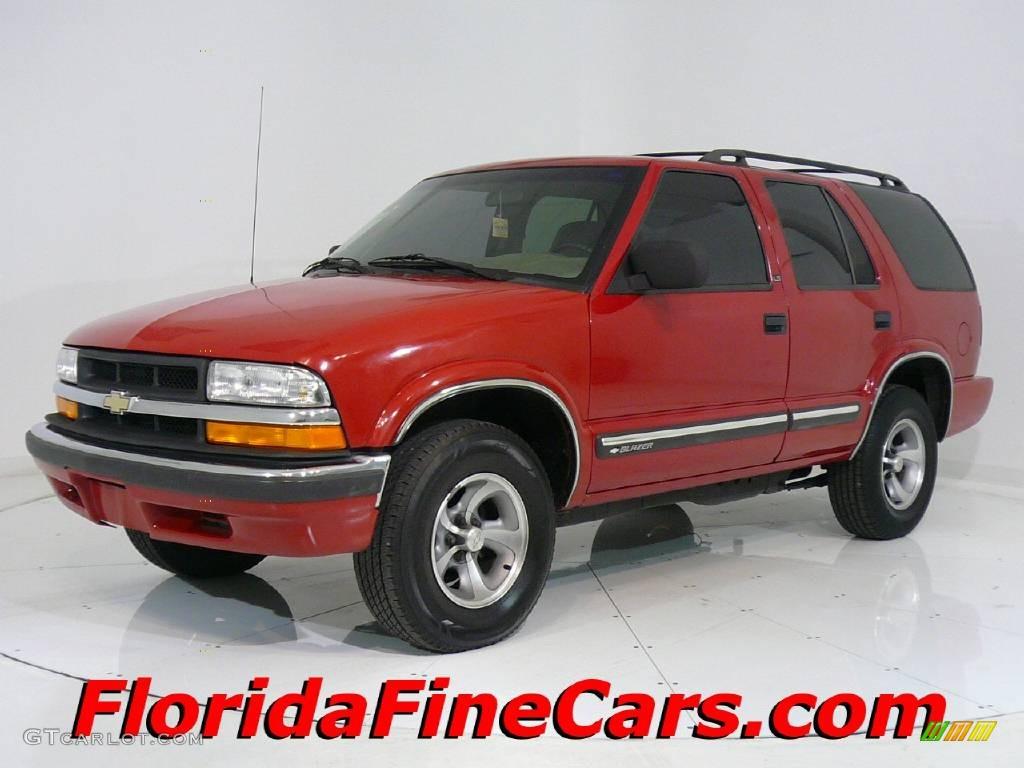 2000 Victory Red Chevrolet Blazer LS #543981   GTCarLot.com - Car ...