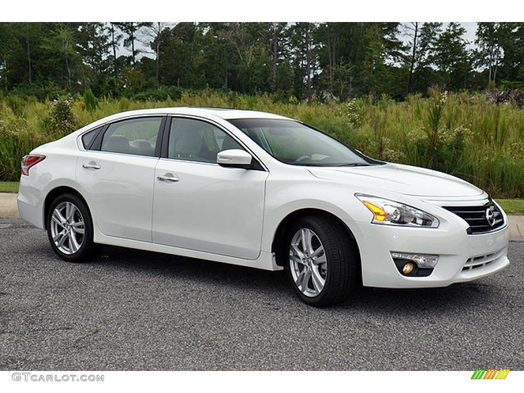 Pearl White 2013 Nissan Altima 3 5 Sv Exterior Photo