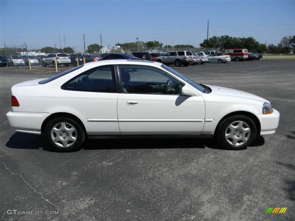 Attractive 1998 Civic EX Coupe   Taffeta White / Gray Photo #4