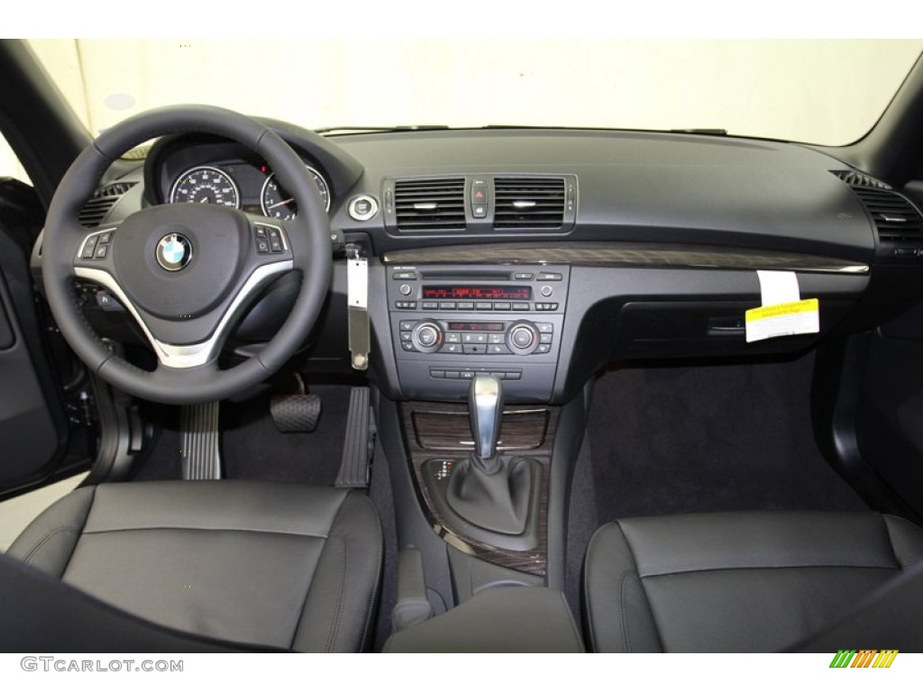 2013 bmw 1 series 128i convertible black dashboard photo #71087065