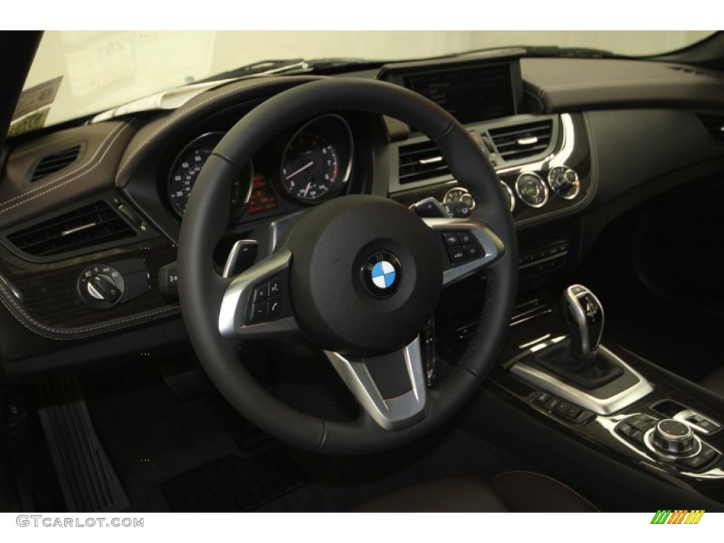 2013 Bmw Z4 Sdrive 28i Canyon Brown Steering Wheel Photo