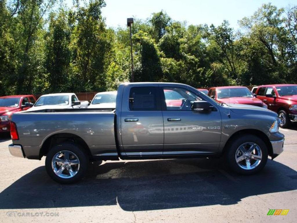 2012 mineral gray metallic dodge ram 1500 big horn quad cab 4x4 71063293 car. Black Bedroom Furniture Sets. Home Design Ideas