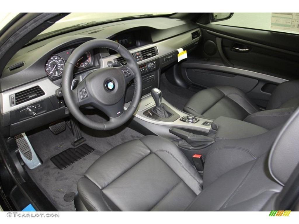 Black Interior 2013 BMW 3 Series 335i Convertible Photo