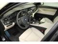 Oyster/Black 2013 BMW 5 Series Interiors
