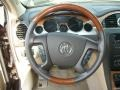 Cashmere/Cocoa Steering Wheel Photo for 2008 Buick Enclave #71099249