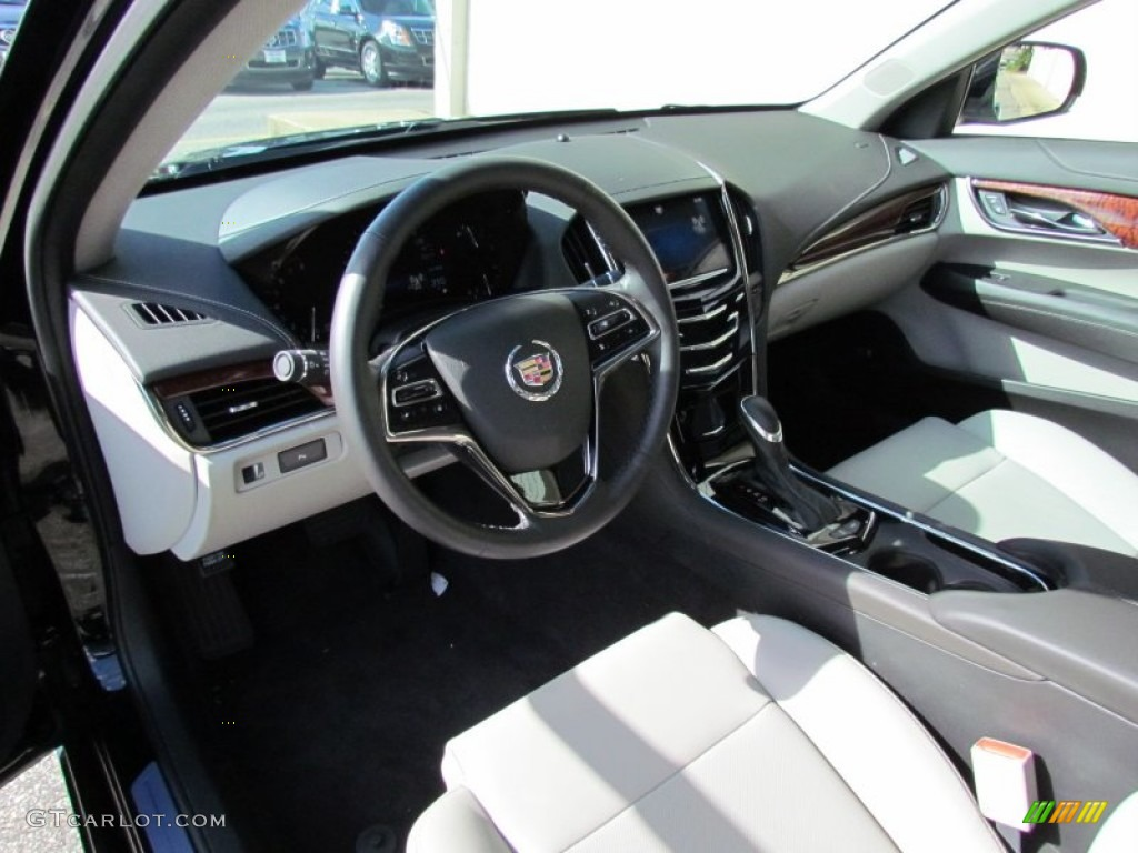 light platinum jet black accents interior 2013 cadillac ats 3 6l luxury photo 71102059. Black Bedroom Furniture Sets. Home Design Ideas