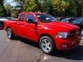 2012 Flame Red Dodge Ram 1500 Express Quad Cab  photo #2