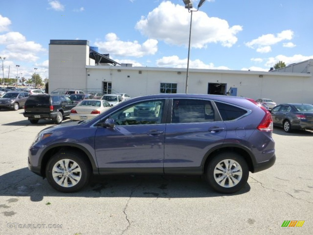 Twilight Blue Metallic 2013 Honda Cr V Ex Awd Exterior Photo 71110022