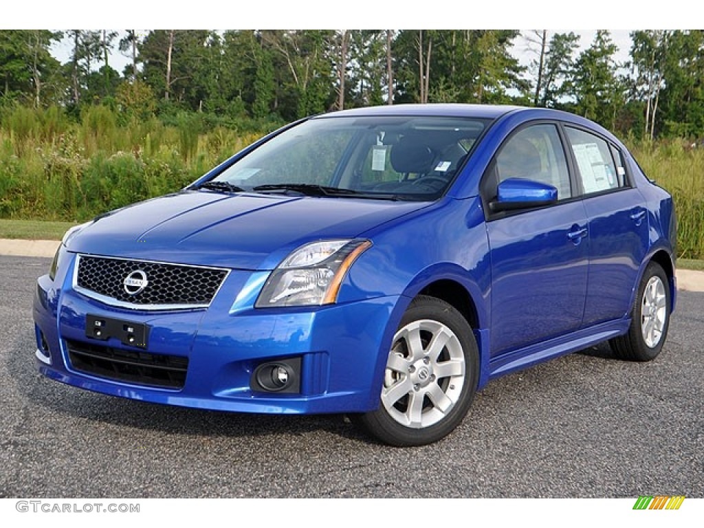 metallic blue 2012 nissan sentra 2 0 sr exterior photo. Black Bedroom Furniture Sets. Home Design Ideas