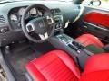 Radar Red/Dark Slate Gray Prime Interior Photo for 2013 Dodge Challenger #71144469
