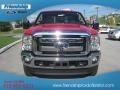 2012 Vermillion Red Ford F250 Super Duty Lariat Crew Cab 4x4  photo #3