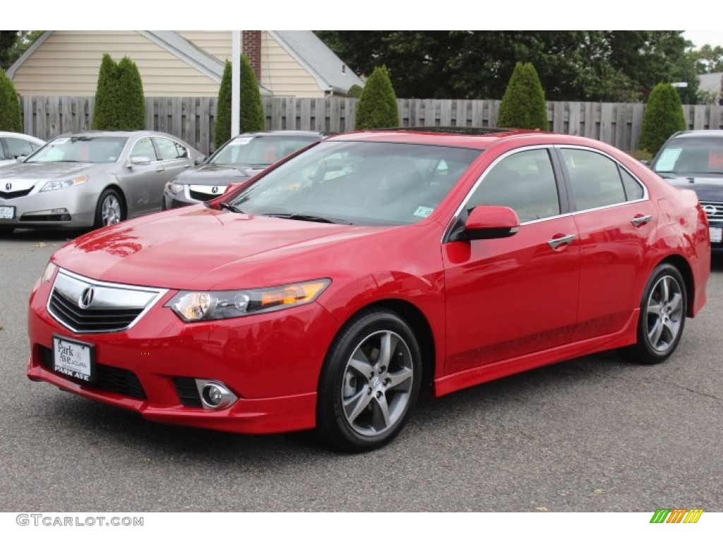 Milano Red 2012 Acura Tsx Special Edition Sedan Exterior