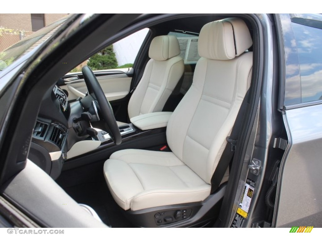 Ivory White Black Interior 2013 Bmw X6 Xdrive50i Photo