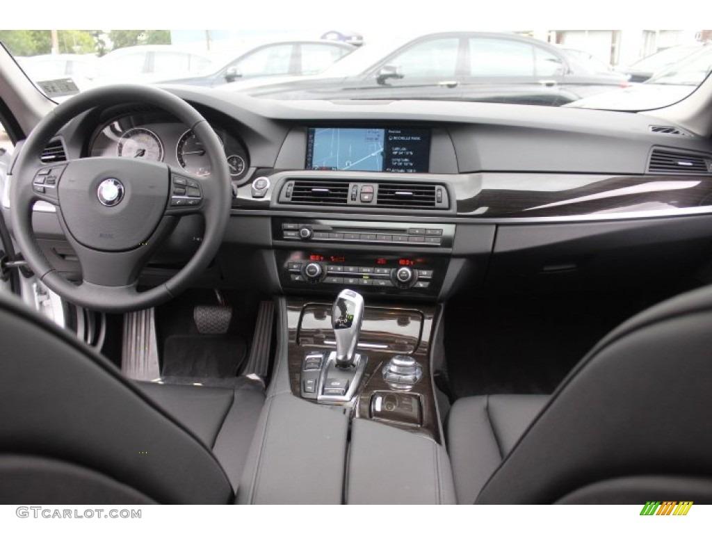 2012 bmw 5 series 528i xdrive sedan black dashboard photo 71154460