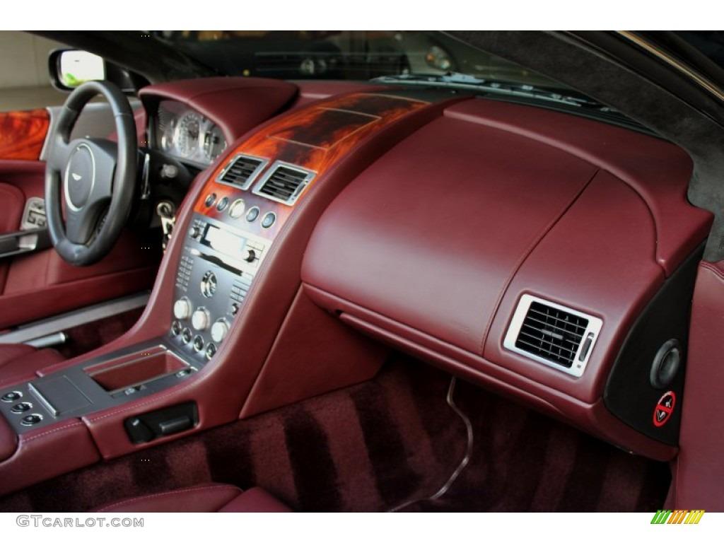 2006 aston martin db9 volante iron ore red dashboard photo #71160696