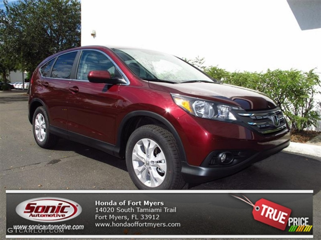 2012 CR-V EX - Basque Red Pearl II / Gray photo #1