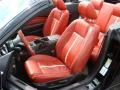 2010 Ford Mustang Brick Red Interior Front Seat Photo