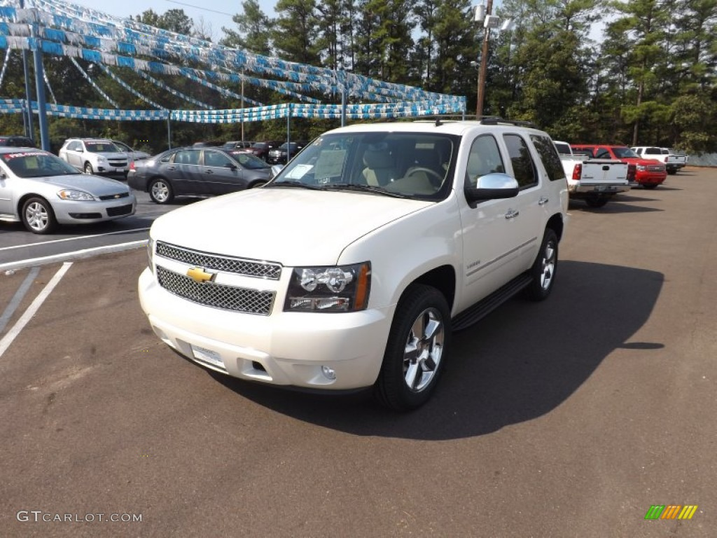 2013 white diamond tricoat chevrolet tahoe ltz 71132487 car color galleries. Black Bedroom Furniture Sets. Home Design Ideas