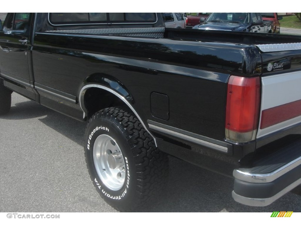 1990 f250 xlt lariat regular cab 4x4 black grey photo 56