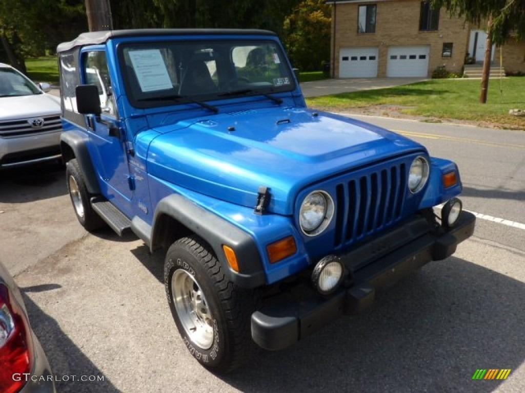 1999 Blue Metallic Jeep Wrangler Sport 4x4 #71194288 Photo ...