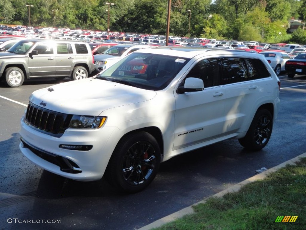 bright white 2013 jeep grand cherokee srt8 4x4 exterior